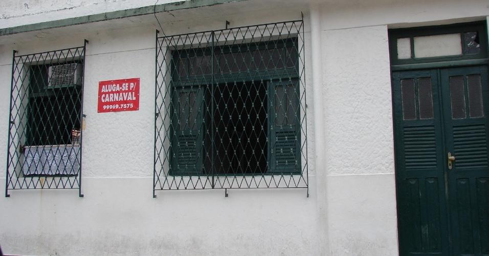 20.jan.2016 - Casa na Rua Prudente de Moraes, vizinha à famosa Pousada dos Quatro Cantos, ainda à espera de inquilinos