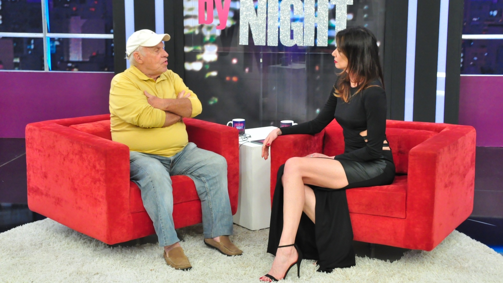 3.abr.2016 - Silvio Luiz é entrevistado por Luciana Gimenez no