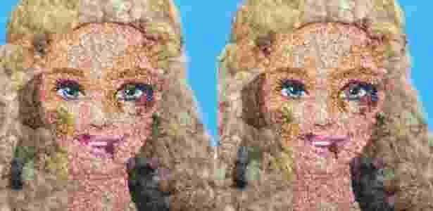 Barbie aparece com hematomas em imagem criada pela artista italiana Lady Be - Reprodução/Vvox