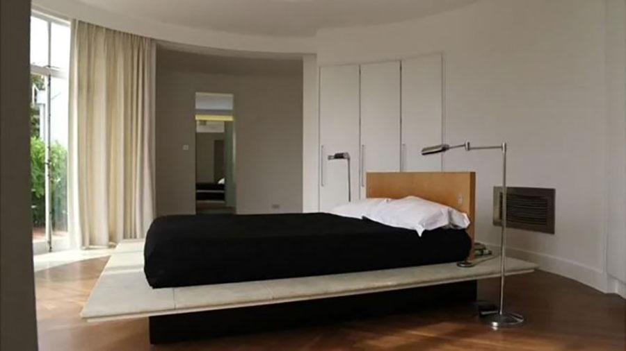 Este quarto se dividia em dois graças aos separadores que estavam perto da saída do cômodo - BBC