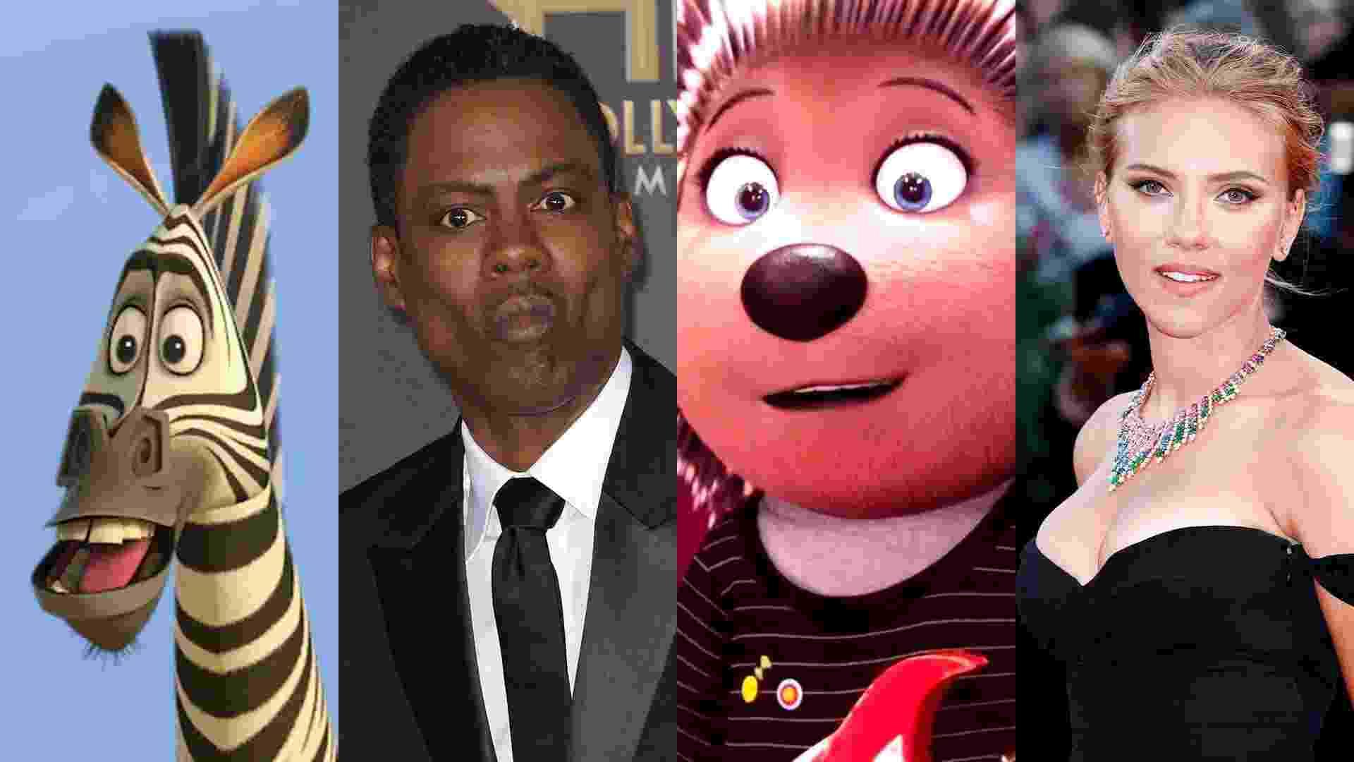 """Cena do filme """"Madagascar 2: A Grande Escapada"""" (2008), de Eric Darnell e Tom McGrath/shutterstock.com e Cena do filme """"Sing - Quem Canta Seus Males Espanta"""" (2016), de Christophe Lourdelet  Garth Jennings/shutterstock.com - Montagem/Reprodução"""