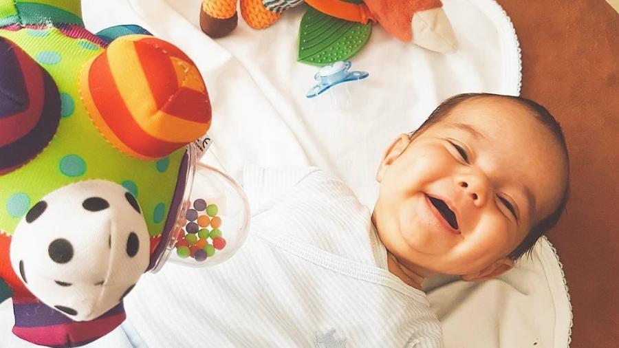 Poucas horas após ter criado o perfil, o bebê já tinha quase 7 mil seguidores - Reprodução/Instagram.com/oficialkellykey