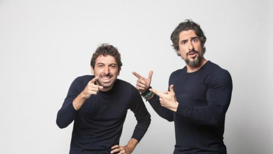 Mionzinho e Marcos Mion trabalham juntos há mais de 12 anos - Divulgação/Record