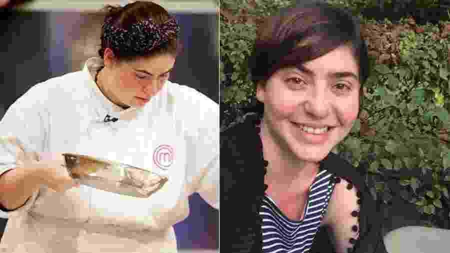 Izabel Alvares antes e depois da dieta que fez a perder 40 quilos. Agora a chef é empresária do universo fit - Reprodução/Montagem UOL