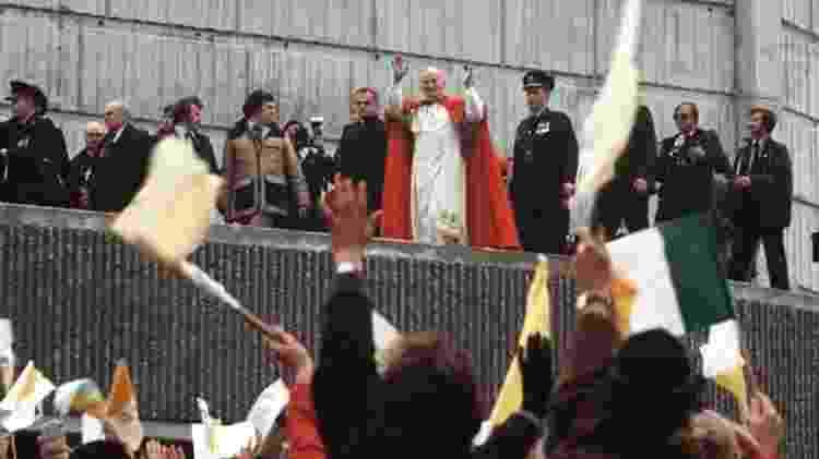 Papa João Paulo 2º em visita à Irlanda em 1979; viagem foi apontada como propulsora da lei antiaborto que seria aprovada quatro anos depois - Pacemaker - Pacemaker
