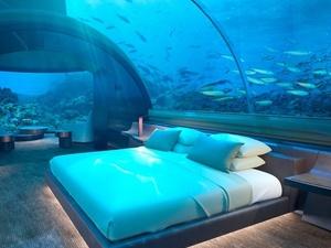 f4fb51706 Hotel de luxo nas Maldivas inaugura quarto submerso com teto transparente