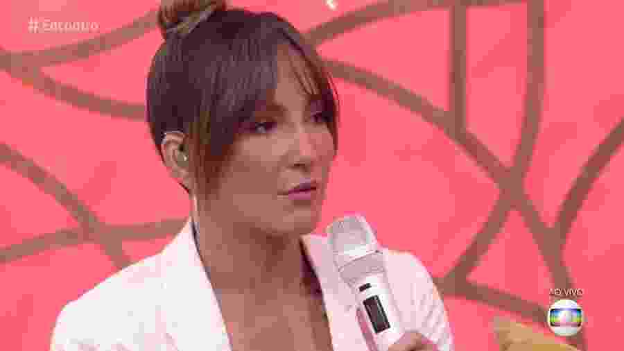 """Claudia Leitte no """"Encontro"""" - Reprodução/Globo"""
