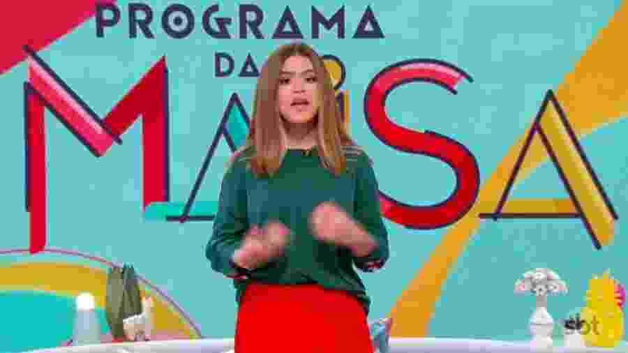 Maisa grava depoimento sobre atentado em Suzano e pede paz em seu programa de estreia no SBT - Reprodução/Twitter