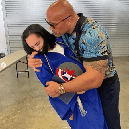 The Rock com a filha Simone, de 17 anos - Reprodução