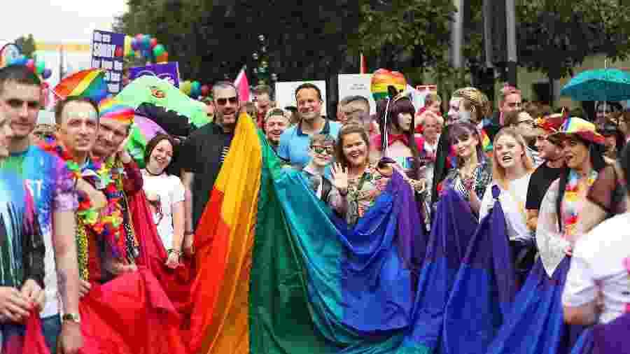 Parada LGBT Belfast pede aprovação do casamento homossexual na Irlanda do Norte - Niall Carson/PA Images/Getty Images