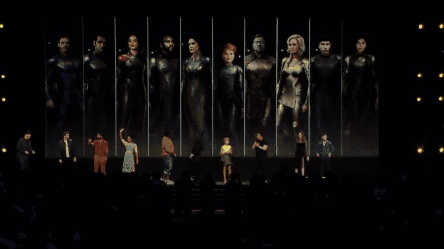 Os Eternos se reúnem no painel da Marvel na D23 - Reprodução/YouTube