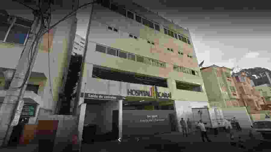 Homem foi internado no Hospital Icaraí, em Niterói, na manhã de hoje - Reprodução/Google Maps