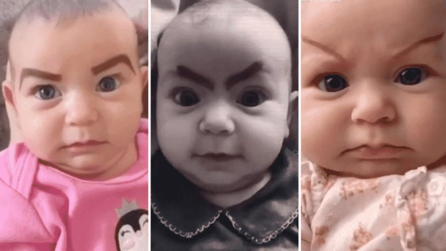 Mãe brinca com expressões da filha devido ao tédio na quarentena - Reprodução/TikTok