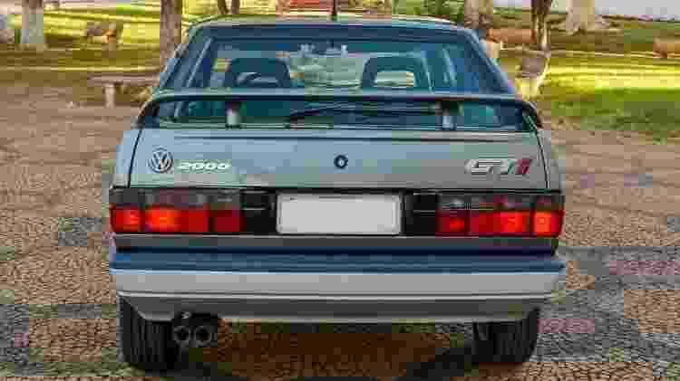 Volkswagen Gol GTI 1993 Cinza Spectrus leilão Joel Picelli R$ 118,5 mil traseira - Divulgação/Picelli Leilões - Divulgação/Picelli Leilões