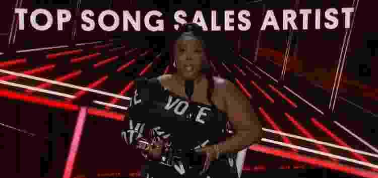 Lizzo durante discurso na Billboard Music Awards - Reprodução - Reprodução
