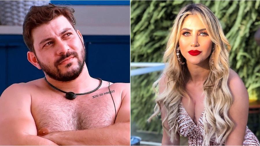 BBB 21: Caio Afiune já namorou Jéssica Costa, filha de Leonardo - Reprodução/Globoplay/Instagram