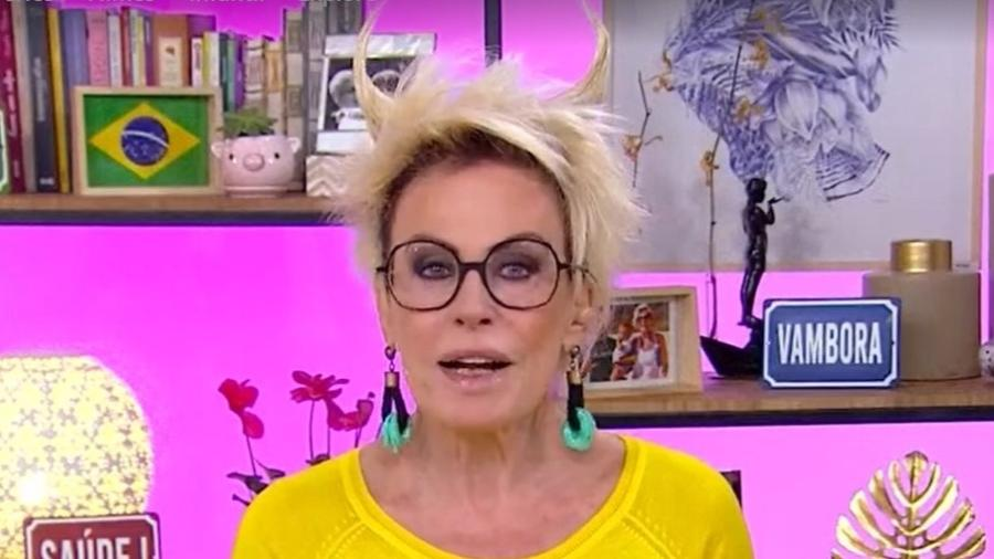 Ana Maria Braga aparece com penteado de chifre - Reprodução/TV Globo