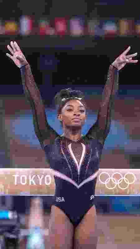 Simone Biles em Tóquio - Tim Clayton - Corbis/Colaborador Getty Images - Tim Clayton - Corbis/Colaborador Getty Images