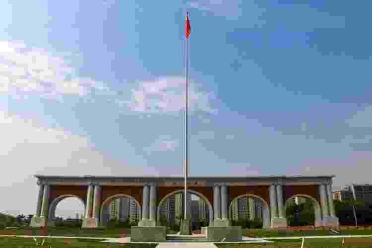 Portão sul do campus de Zijingang Campus, Universidade de Zhejiang - Reprodução/Archcy - Reprodução/Archcy