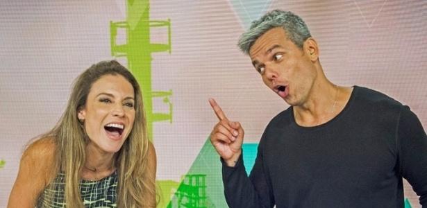 Maíra Charken e Otaviano Costa fazem gracejos durante o programa da Globo - Divulgação/TV Globo/ João Miguel Júnior