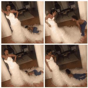 03.mai.2016 - Jennifer Hudson esbanjou glamour durante sua passagem pelo tradicional baile do MET, - Reprodução/Instagram iamjhud