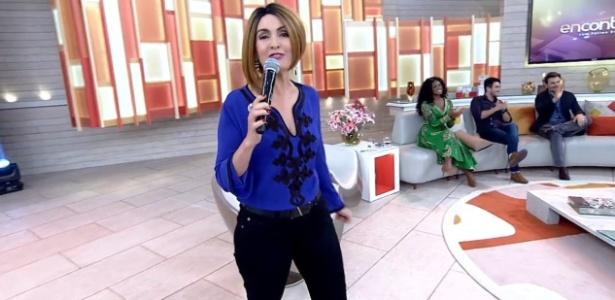 """Fátima Bernardes aposta em peruca estilosa no """"Encontro"""" desta terça (14) - Reprodução/Globo"""