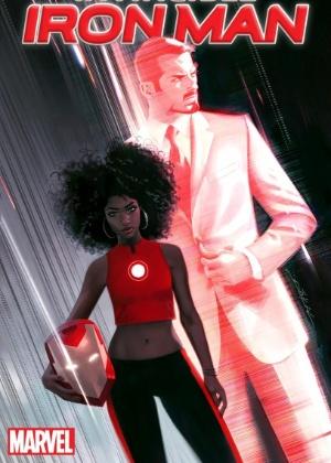"""Capa da HQ """"Invincible Iron Man"""" com Riri Williams, que substituirá Tony Stark como """"Homem de Ferro"""" - Marvel/Divulgação"""