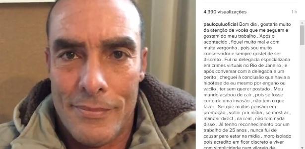 Paulo Zulu pede desculpas pela publicação de uma foto em que aparece nu em seu perfil no Instagram - Reprodução/Instagram/paulozuluoficial