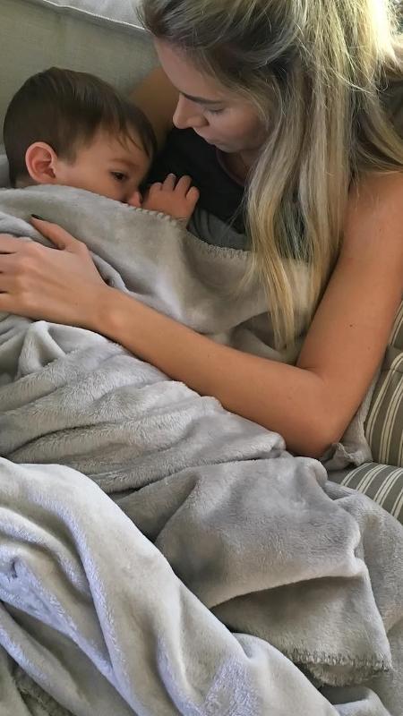 A ex-BBB Adriana Santana e o filho, Rodrigo, que tem um ano e dois meses - Reprodução/Instagram