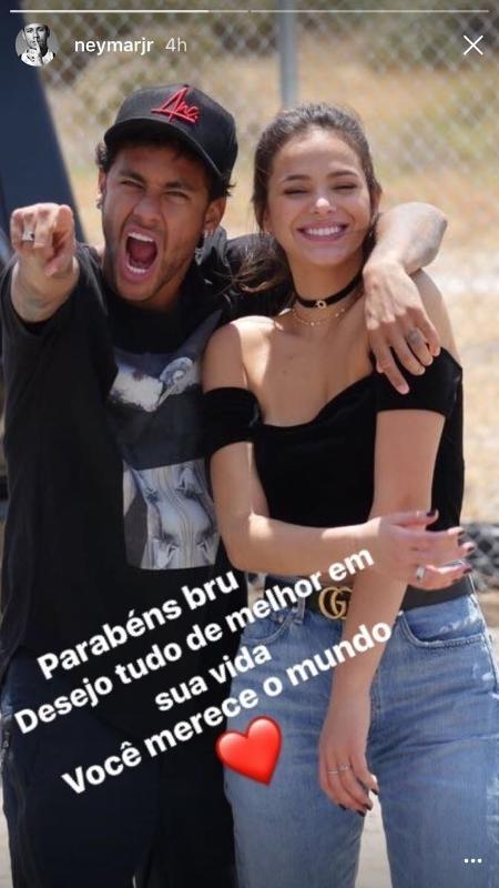 Neymar deseja Feliz Aniversário para Bruna Marquezine - Reprodução