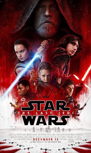 Pôster dá destaque ao duelo entre personagens Rey e Kylo. Seriam eles os últimos Jedi?