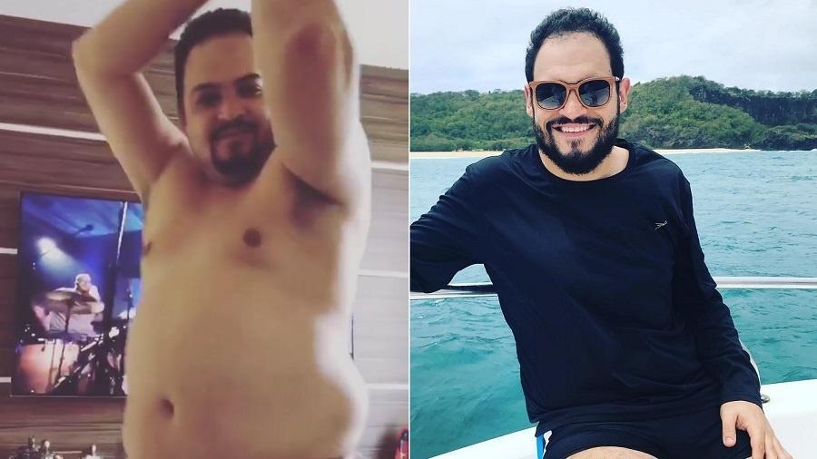 Matheus Ceará antes e depois da cirurgia de redução de peso - Montagem/Reprodução/Instagram/matheusceara