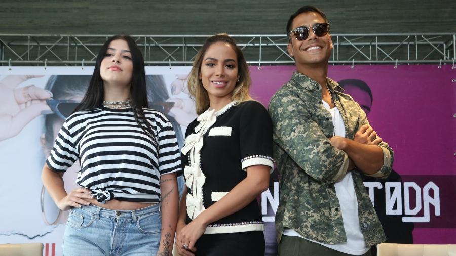 Anitta empresária: Cantora apresentou seus pupilos no pop, Clau e Micael - Roberto Filho / Brazil News