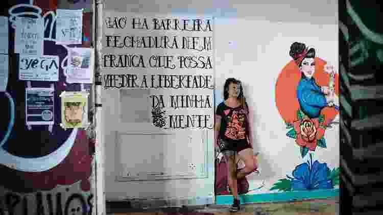 Erika, moradora do nono andar do Ouvidor 63 - Carine Wallauer/UOL - Carine Wallauer/UOL