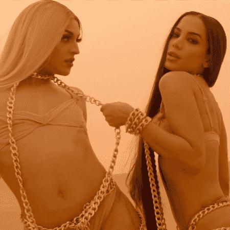 """Pabllo Vittar e Anitta em cena do clipe """"Sua Cara"""" - Reprodução/YouTube"""