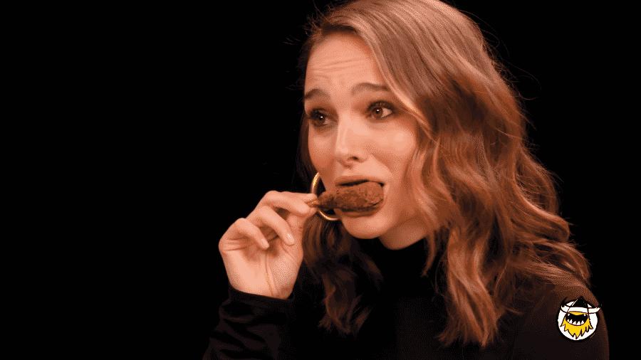 Como é vegana, Natalie Portman experimentou petiscos que não são de origem animal - Reprodução