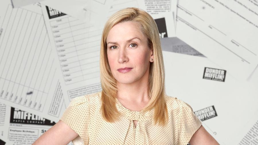 """Angela Kinsey em """"The Office"""" - Reprodução"""