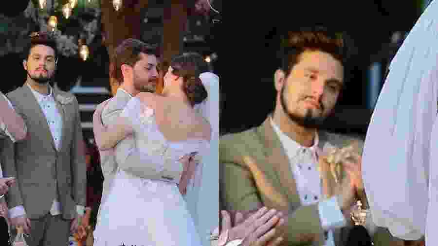 Caras de Luan Santana chamaram a atenção no momento do beijo de Klebber Toledo e Camila Queiroz - Manuela Scarpa/Brazil News