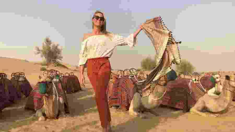 Apresentadora viajou aos Emirados Árabes Unidos - Divulgação