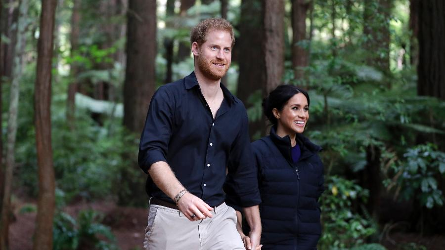 Meghan e Harry durante viagem a Fiji - Getty Images