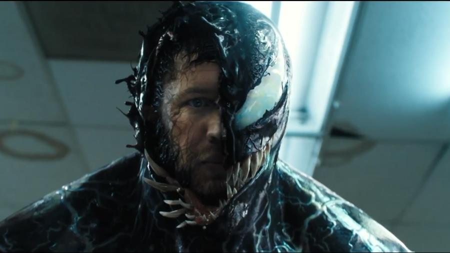 """Tom Hardy em """"Venom"""" (2018) - Divulgação"""