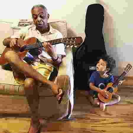 Gilberto Gil com seu neto Nino, filho de Bela Gil - Reprodução/Instagram/@belagil