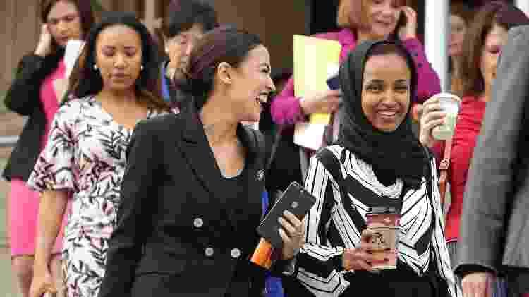 Alexandria Ocasio-Cortez e Ilhan Omar em Washington D.C. - AFP - AFP