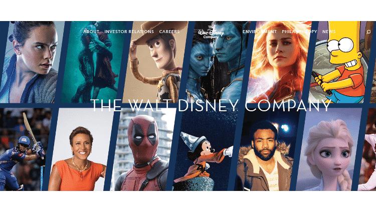 Banner no site da Disney mostra produtos da companhia e inclui Simpsons - Reprodução