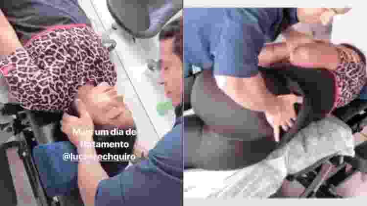 Ludmilla sob os cuidados do quiropraxista Lucas Rech - Reprodução/Instagram