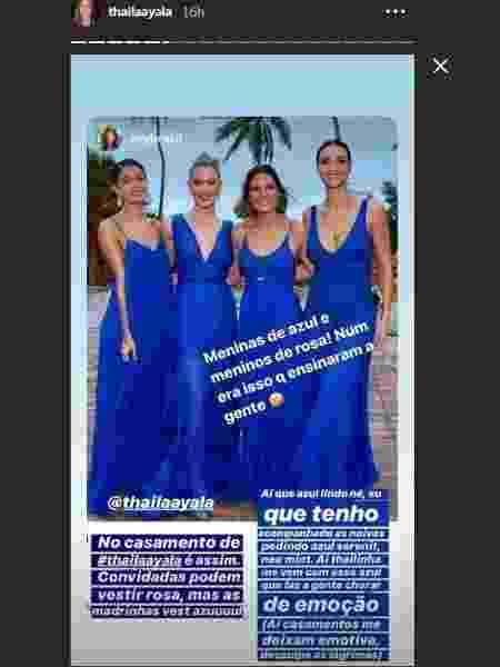 Madrinhas no casamento de Thaila Ayala  - Reprodução