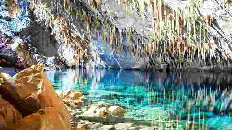 Gruta Lago Azul, uma das atrações mais populares de Bonito, no Mato Grosso do Sul - Evandro Rocha/Secretaria de Turismo de Bonito - Evandro Rocha/Secretaria de Turismo de Bonito