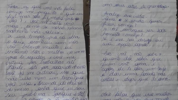 A filha de Luciana achou sua carta após o seu assassinato - Reprodução