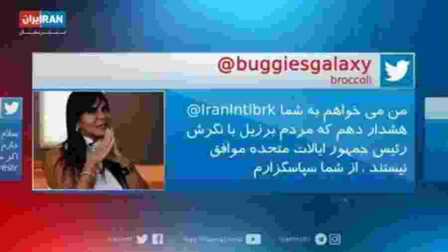 Gretchen aparece em meme na TV iraniana - Reprodução/Twitter