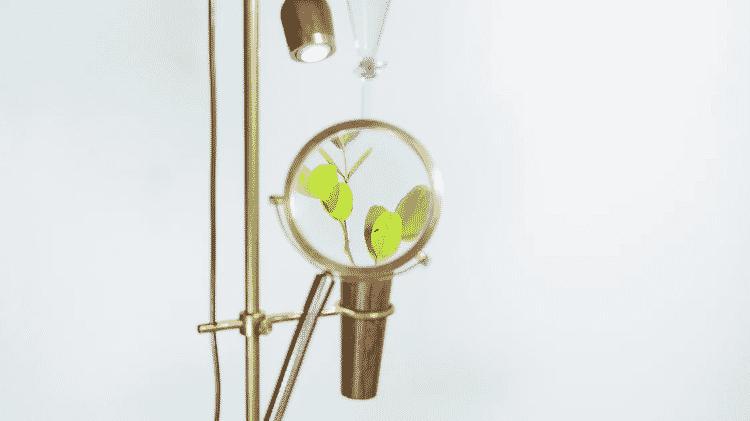 Parte da obra com gotejador de Lucas Neves - Arquivo pessoal - Arquivo pessoal